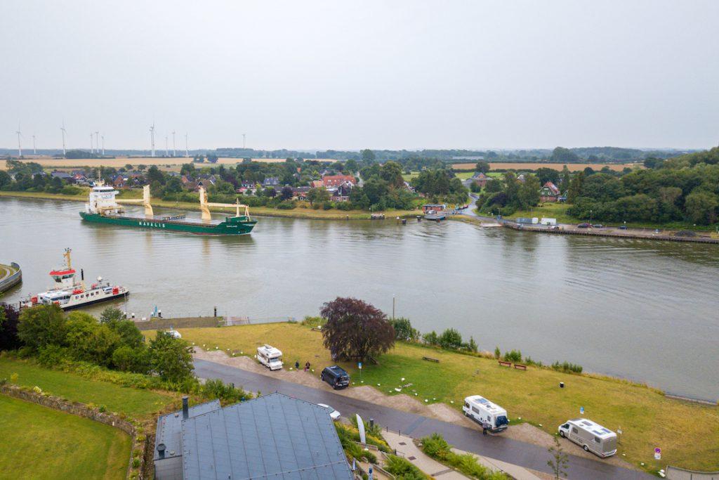 Schiffahrt auf dem Ostseekanal